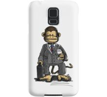 The Business Monkey drinks a coffee to go Samsung Galaxy Case/Skin