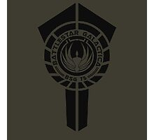 battlestar galactica logo - So Say We All Photographic Print