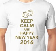 Keep calm and happy new year 2016 Unisex T-Shirt