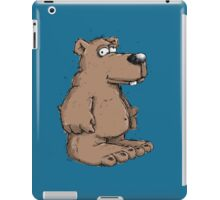 Funny brown bear  iPad Case/Skin