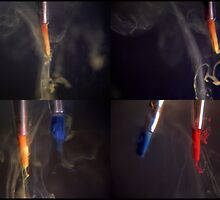 Paint brushes in water by katie-k
