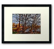 Winter am Fluss Framed Print