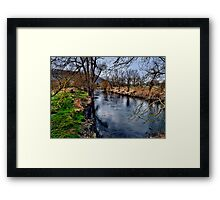 Winter am Fluss 1 Framed Print