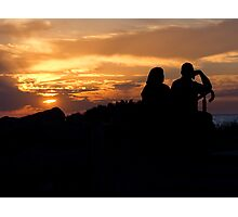A Couple at Sunset Photographic Print