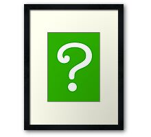 Question Mark - style 3 Framed Print