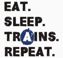 Eat. Sleep. Trains. Repeat. One Piece - Short Sleeve