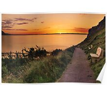 Take a seat for a  Llandudno Sunset Poster