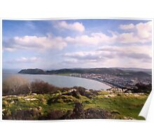 View from Pen Dinas on top of Great Orme Poster