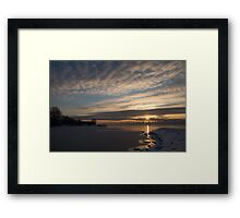 New Day on Ice - Sunrise on Lake Ontario  Framed Print