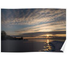 New Day on Ice - Sunrise on Lake Ontario  Poster
