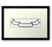 Ribbon Banner Framed Print