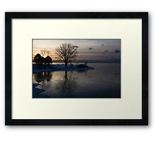 Gray Reflections and Ice Patches Framed Print