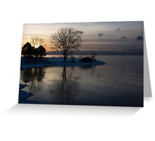 Gray Reflections and Ice Patches Greeting Card