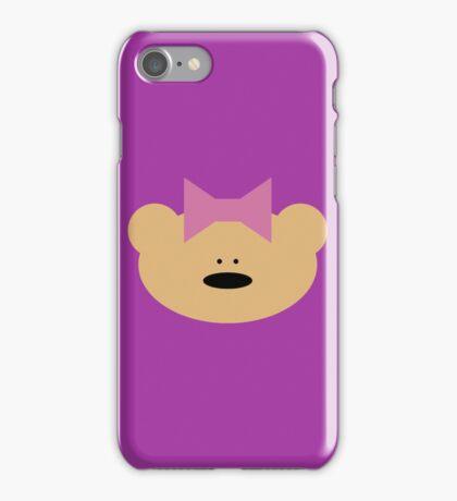 Teddy bear girl with hair ribbon iPhone Case/Skin