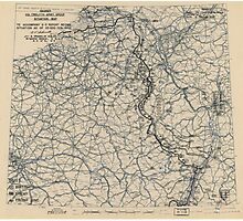 February 5 1945 World War II HQ Twelfth Army Group situation map Photographic Print