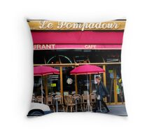Paris Street Life Throw Pillow
