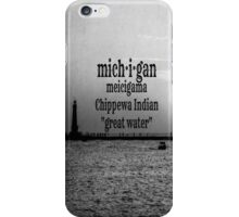 michigan iPhone Case/Skin