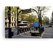 Paris Metro Station Canvas Print