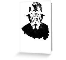 Watchmen - Rorschach Stain Greeting Card