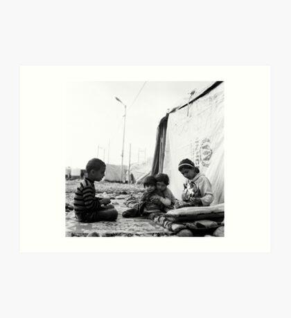 Faces of a Refugee Camp - Kowergosk #1 Art Print