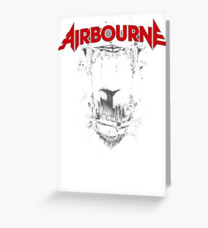 Airbourne - Black Dog Greeting Card