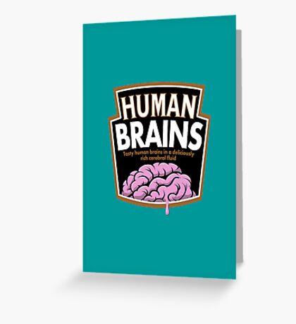 Human Brains Greeting Card