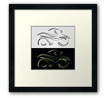 Artistic graphic of motorbike Framed Print