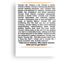 Trainspotting speech Metal Print