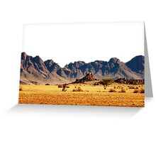 CLASSIC ELEMENTS collection / EARTH / desert mountains Greeting Card