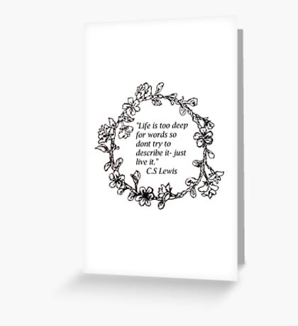 Life and other beautiful things Greeting Card