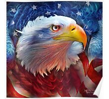 Eagle - Red White Blue Poster