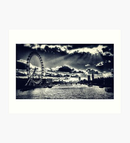 London Icons Black and White Art Print