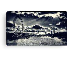 London Icons Black and White Canvas Print