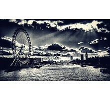 London Icons Black and White Photographic Print