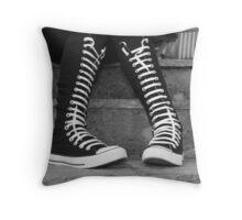 Converse Boots Throw Pillow