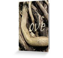 Love Wood Greeting Card