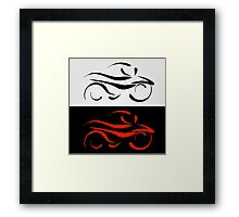Motorbike with abstract lines Framed Print