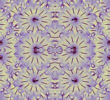 Digital Futuristic Flowers Pattern by DFLCreative
