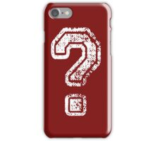 Question Mark - style 5 iPhone Case/Skin