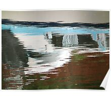 Boat reflection abstract Poster