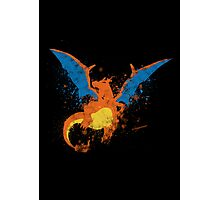Charizard Paint Splatter Photographic Print