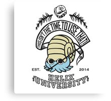 Helix Fossil University 2 Canvas Print