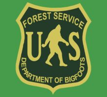US Forest Service Bigfoot T-Shirt by thebigfootstore