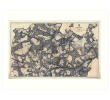 Civil War Maps 1866 Totopotomoy 1864 Art Print