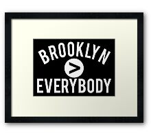 Brooklyn > Everybody Framed Print