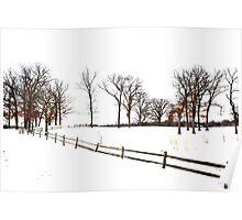 Midwest Winter Landscape Poster