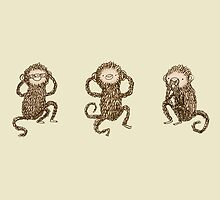 Three Wise Monkeys by Sophie Corrigan