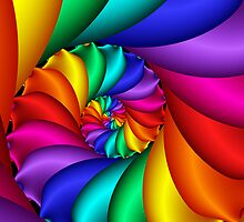 Beautiful Rainbow Spiral  by KittyBitty1