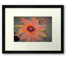 Light orange flower design Framed Print