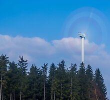 Wind turbine near Kniebis, Black Forest, Germany by Mark Bangert